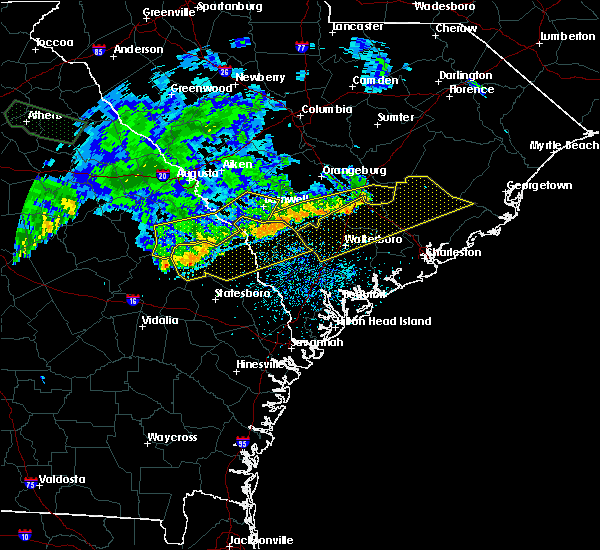 Radar Image for Severe Thunderstorms near Allendale, SC at 7/3/2015 1:29 PM EDT