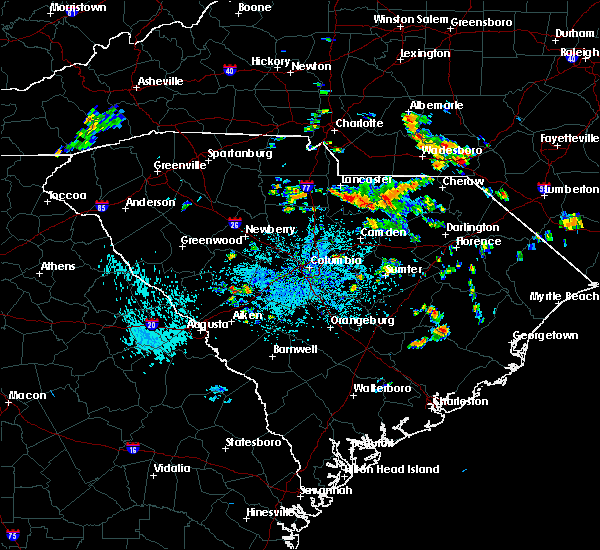 Radar Image for Severe Thunderstorms near Kershaw, SC at 8/13/2020 1:23 PM EDT