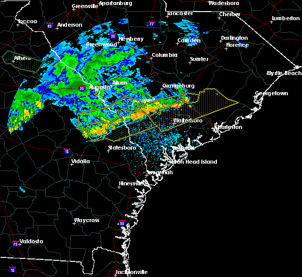 Radar Image for Severe Thunderstorms near Summerville, SC at 7/3/2015 1:33 PM EDT