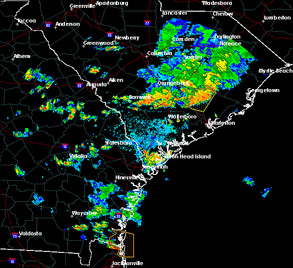 Radar Image for Severe Thunderstorms near Bonneau Beach, SC at 8/13/2020 5:19 PM EDT