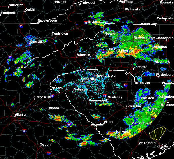 Radar Image for Severe Thunderstorms near Catawba, NC at 8/13/2020 5:44 PM EDT