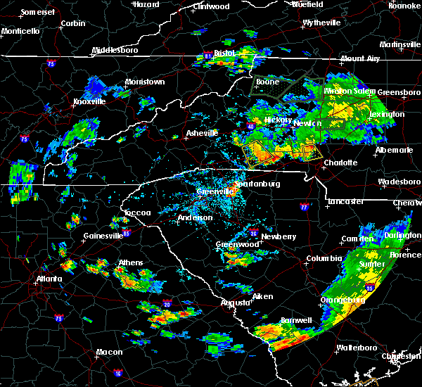 Radar Image for Severe Thunderstorms near Mooresboro, NC at 8/13/2020 6:36 PM EDT