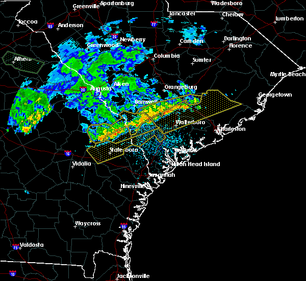 Radar Image for Severe Thunderstorms near Allendale, SC at 7/3/2015 1:42 PM EDT