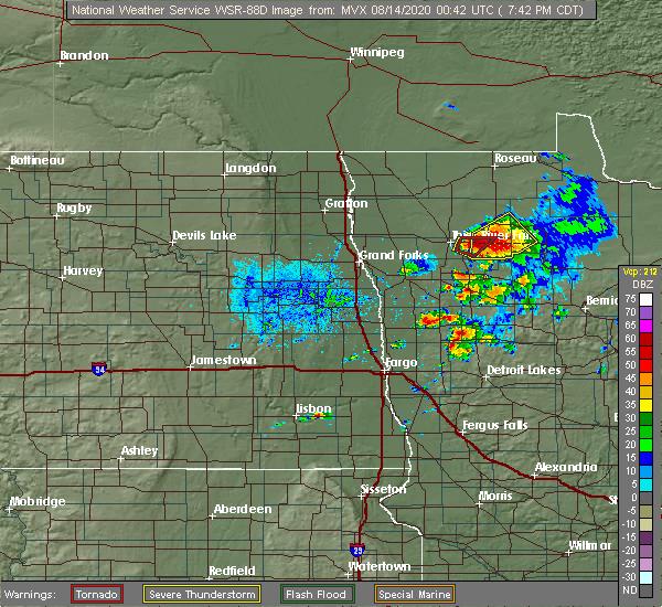 Radar Image for Severe Thunderstorms near Goodridge, MN at 8/13/2020 7:49 PM CDT