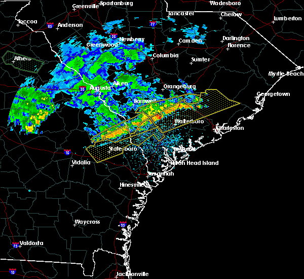 Radar Image for Severe Thunderstorms near Yemassee, SC at 7/3/2015 1:46 PM EDT