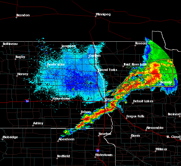 Radar Image for Severe Thunderstorms near Colfax, ND at 8/13/2020 10:36 PM CDT