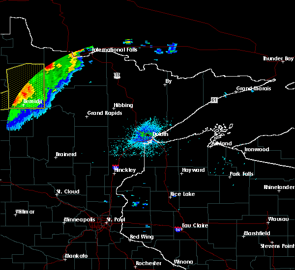 Radar Image for Severe Thunderstorms near Northome, MN at 8/13/2020 10:50 PM CDT