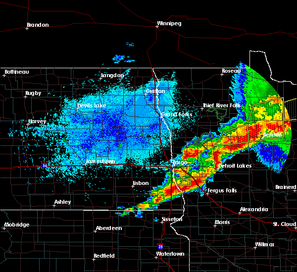 Radar Image for Severe Thunderstorms near White Earth, MN at 8/13/2020 11:36 PM CDT