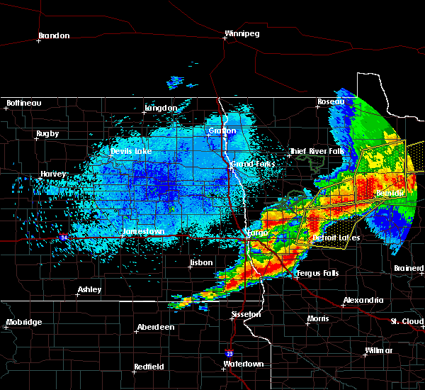 Radar Image for Severe Thunderstorms near Battle Lake, MN at 8/13/2020 11:44 PM CDT