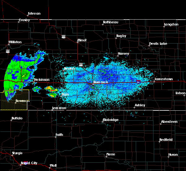 Radar Image for Severe Thunderstorms near Amidon, ND at 8/13/2020 10:53 PM MDT