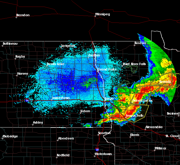 Radar Image for Severe Thunderstorms near Battle Lake, MN at 8/14/2020 12:15 AM CDT