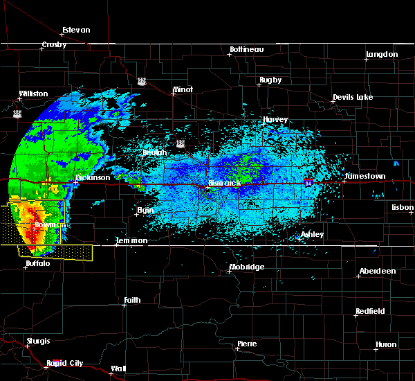 Radar Image for Severe Thunderstorms near Amidon, ND at 8/13/2020 11:46 PM MDT