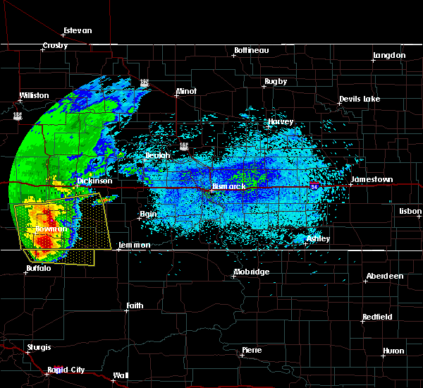 Radar Image for Severe Thunderstorms near Amidon, ND at 8/14/2020 12:02 AM MDT
