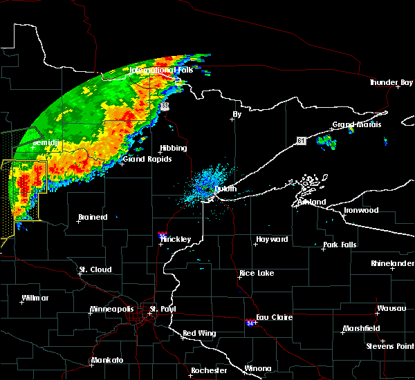 Radar Image for Severe Thunderstorms near Breezy Point, MN at 8/14/2020 1:14 AM CDT