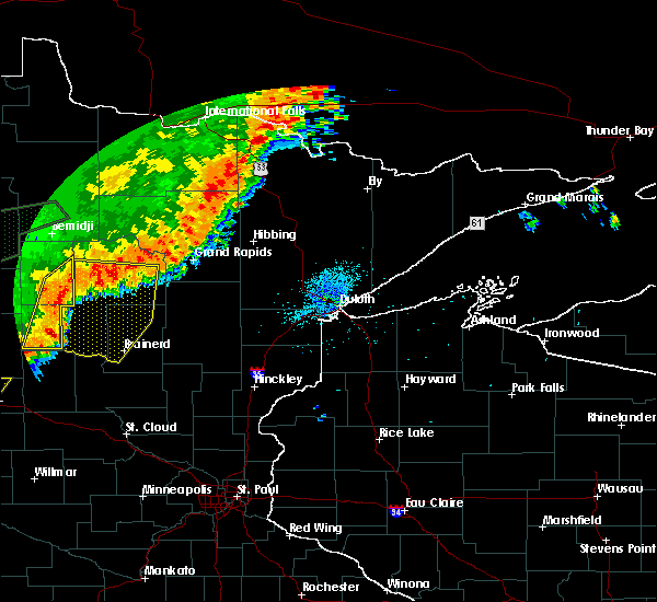 Radar Image for Severe Thunderstorms near Breezy Point, MN at 8/14/2020 1:35 AM CDT