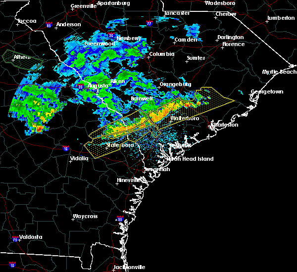 Radar Image for Severe Thunderstorms near Yemassee, SC at 7/3/2015 1:58 PM EDT