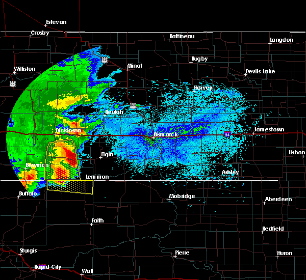 Radar Image for Severe Thunderstorms near Almont, ND at 8/14/2020 12:45 AM MDT
