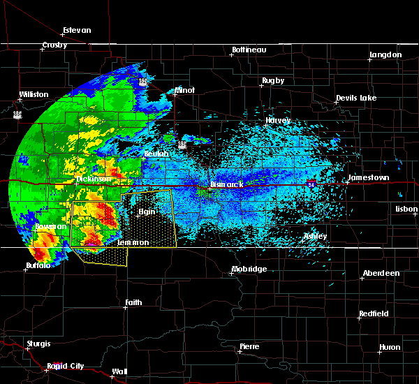 Radar Image for Severe Thunderstorms near Almont, ND at 8/14/2020 1:04 AM MDT