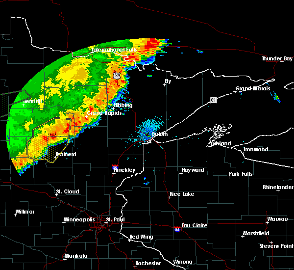 Radar Image for Severe Thunderstorms near Breezy Point, MN at 8/14/2020 2:05 AM CDT