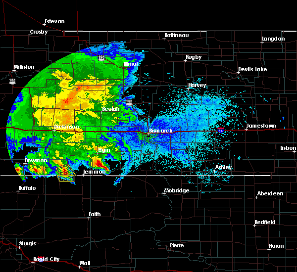 Radar Image for Severe Thunderstorms near Haynes, ND at 8/14/2020 1:48 AM MDT