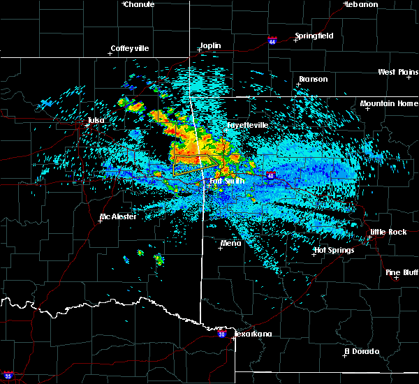 Radar Image for Severe Thunderstorms near Long, OK at 8/14/2020 3:09 AM CDT