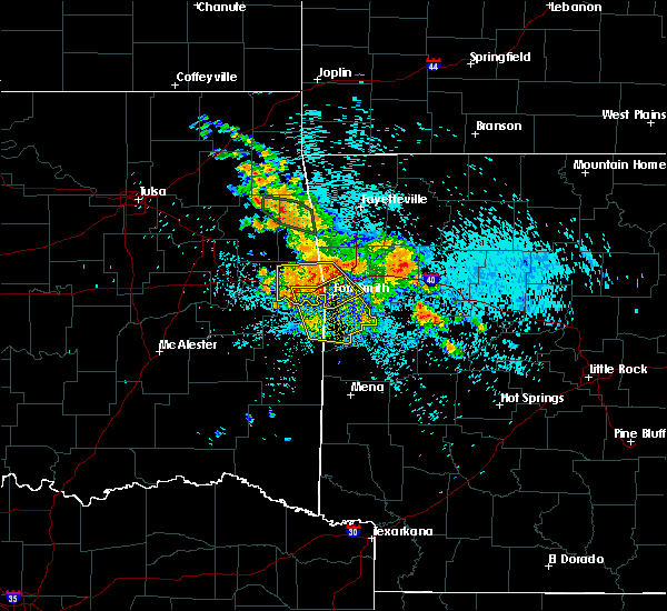 Radar Image for Severe Thunderstorms near Remy, OK at 8/14/2020 3:38 AM CDT