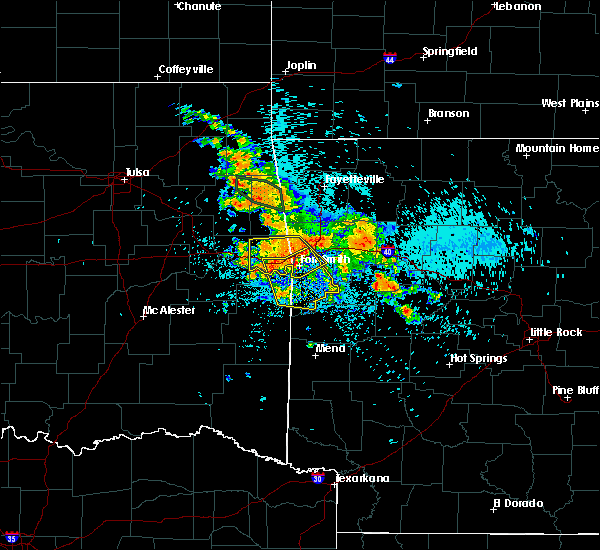 Radar Image for Severe Thunderstorms near Huntington, AR at 8/14/2020 3:46 AM CDT