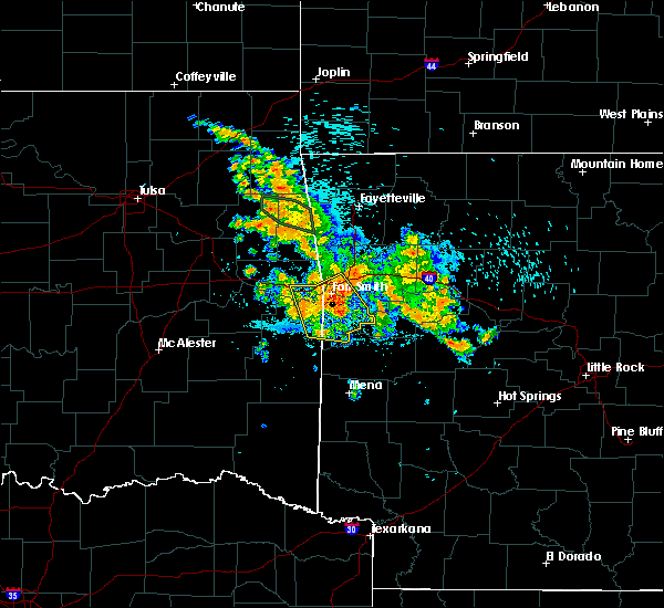 Radar Image for Severe Thunderstorms near Fort Smith, AR at 8/14/2020 3:59 AM CDT