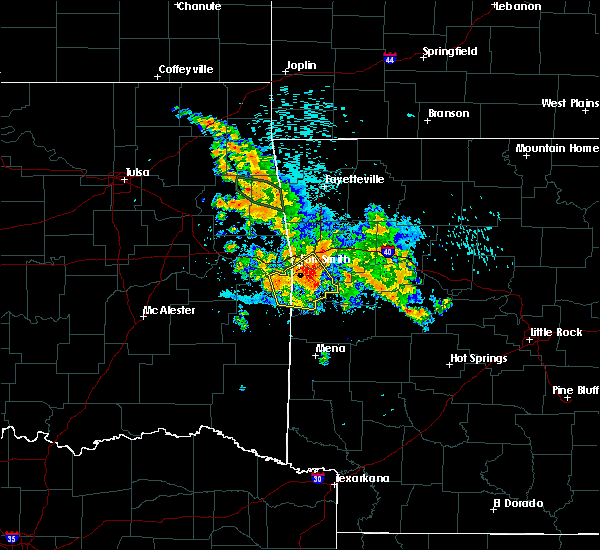 Radar Image for Severe Thunderstorms near Huntington, AR at 8/14/2020 4:06 AM CDT