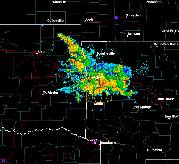 Radar Image for Severe Thunderstorms near Ratcliff, AR at 8/14/2020 4:34 AM CDT