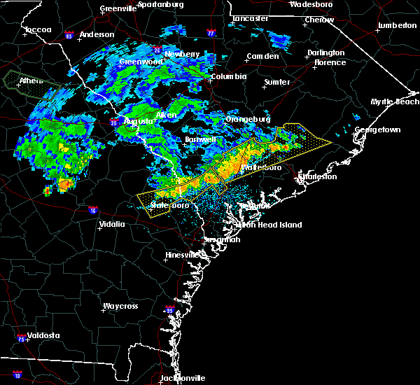 Radar Image for Severe Thunderstorms near Yemassee, SC at 7/3/2015 2:06 PM EDT