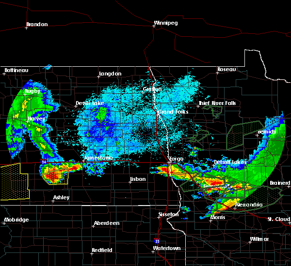 Radar Image for Severe Thunderstorms near Oakport, MN at 8/14/2020 6:01 AM CDT