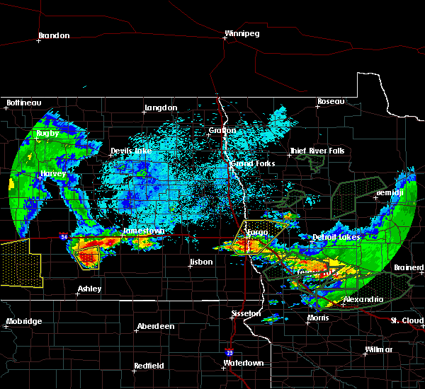 Radar Image for Severe Thunderstorms near Oakport, MN at 8/14/2020 6:15 AM CDT