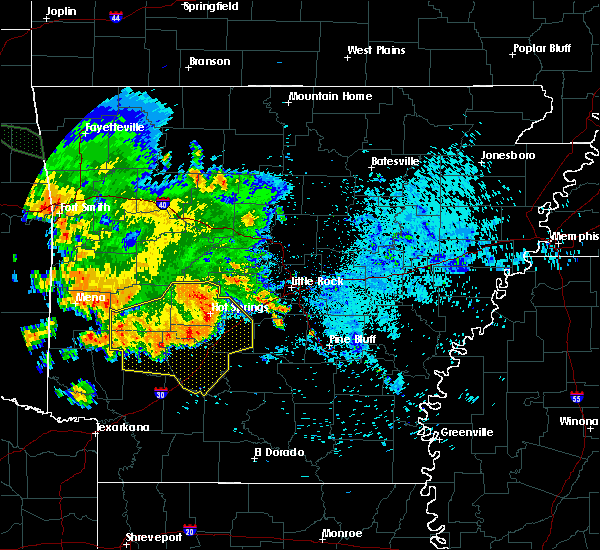 Radar Image for Severe Thunderstorms near Midway, AR at 8/14/2020 6:16 AM CDT