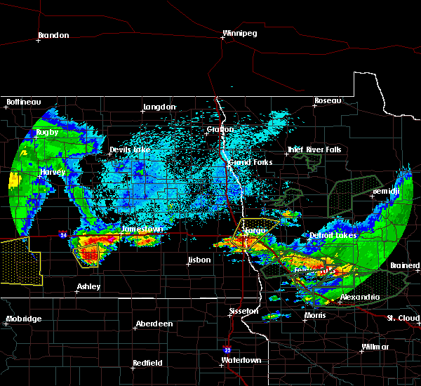 Radar Image for Severe Thunderstorms near Jud, ND at 8/14/2020 6:21 AM CDT