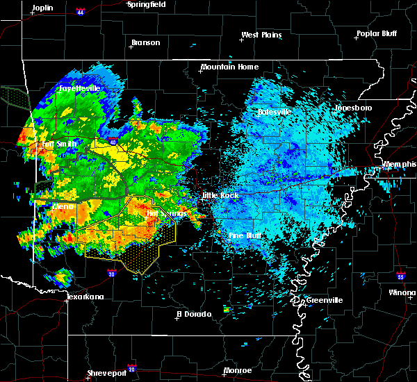 Radar Image for Severe Thunderstorms near Midway, AR at 8/14/2020 6:30 AM CDT