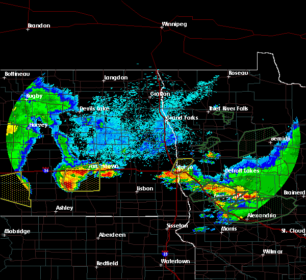 Radar Image for Severe Thunderstorms near Jud, ND at 8/14/2020 6:33 AM CDT