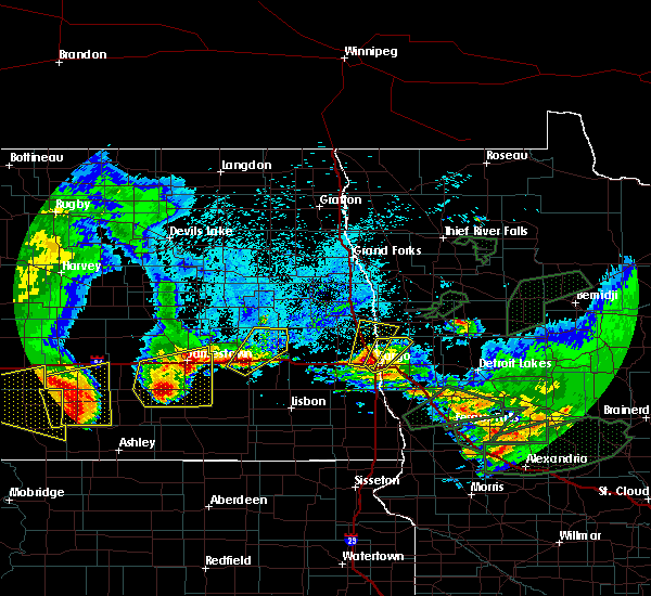 Radar Image for Severe Thunderstorms near Jud, ND at 8/14/2020 6:47 AM CDT