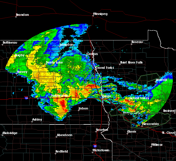 Radar Image for Severe Thunderstorms near Kindred, ND at 8/14/2020 8:47 AM CDT