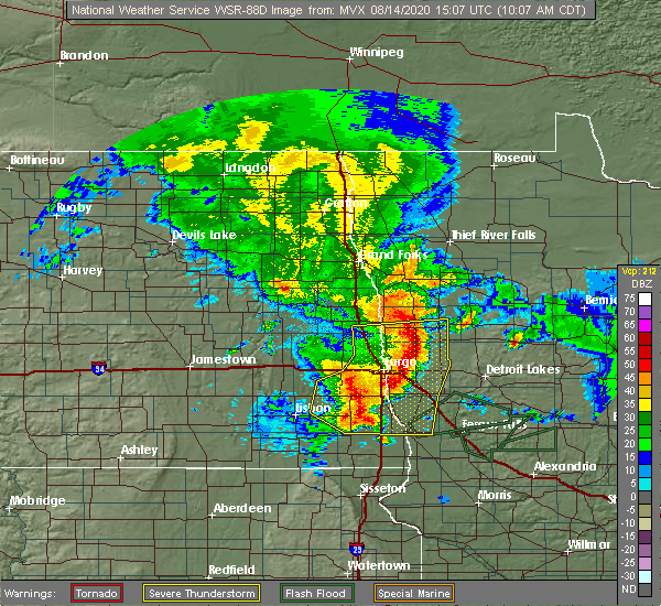 Radar Image for Severe Thunderstorms near Oakport, MN at 8/14/2020 10:14 AM CDT