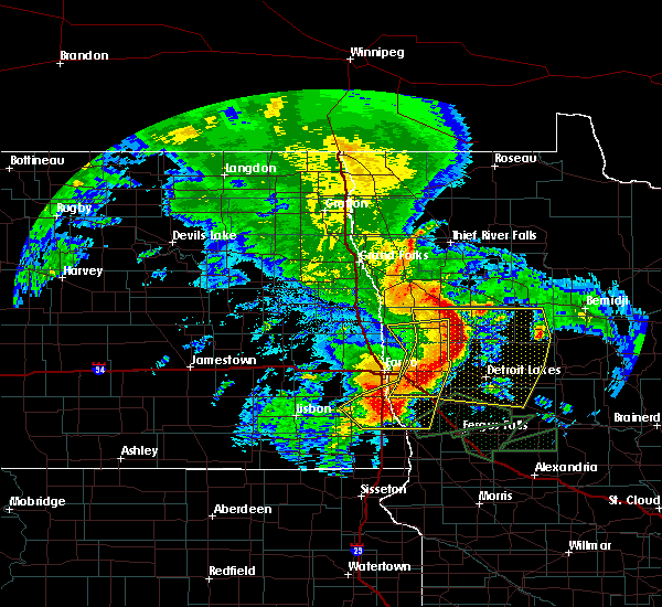 Radar Image for Severe Thunderstorms near White Earth, MN at 8/14/2020 10:33 AM CDT