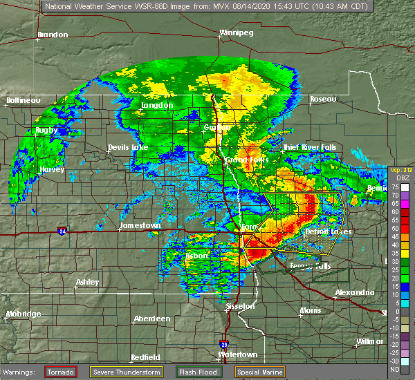 Radar Image for Severe Thunderstorms near White Earth, MN at 8/14/2020 10:48 AM CDT