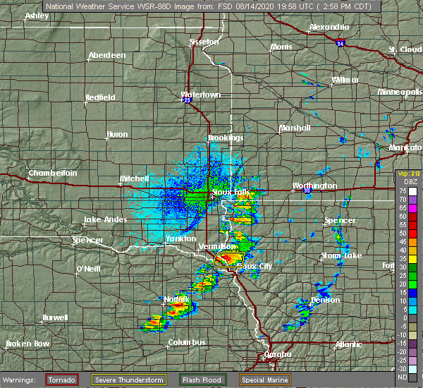 Radar Image for Severe Thunderstorms near Westfield, IA at 8/14/2020 3:00 PM CDT