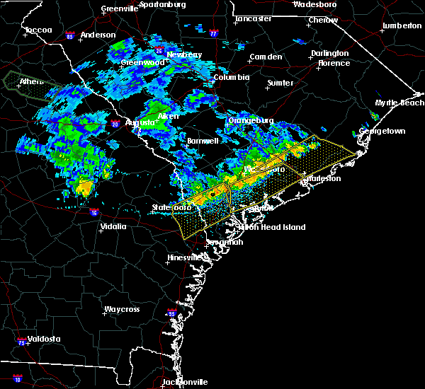 Radar Image for Severe Thunderstorms near Edisto Beach, SC at 7/3/2015 2:43 PM EDT