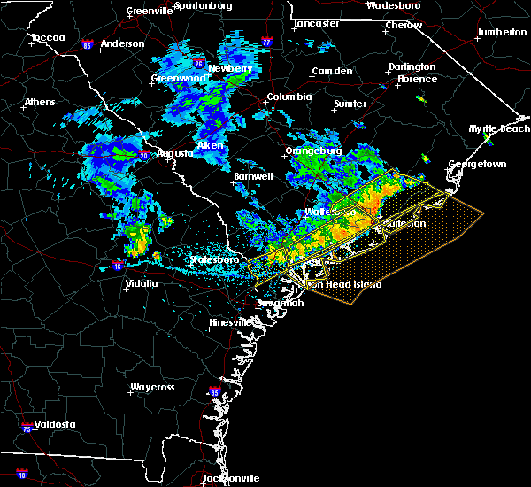 Radar Image for Severe Thunderstorms near Edisto Beach, SC at 7/3/2015 2:53 PM EDT