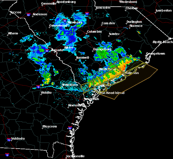 Radar Image for Severe Thunderstorms near Beaufort, SC at 7/3/2015 2:58 PM EDT