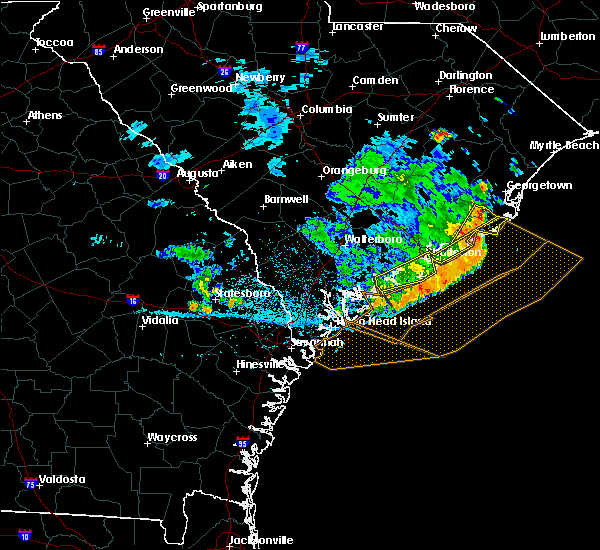 Radar Image for Severe Thunderstorms near Charleston, SC at 7/3/2015 3:29 PM EDT