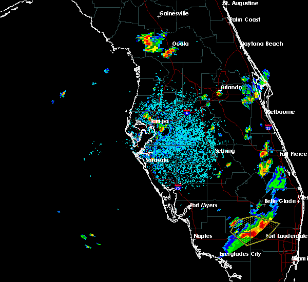 Radar Image for Severe Thunderstorms near Brandon, FL at 7/3/2015 3:35 PM EDT