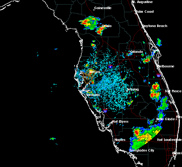 Radar Image for Severe Thunderstorms near Lutz, FL at 7/3/2015 4:01 PM EDT