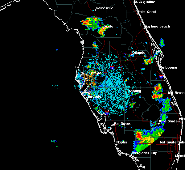 Radar Image for Severe Thunderstorms near Tampa, FL at 7/3/2015 4:14 PM EDT